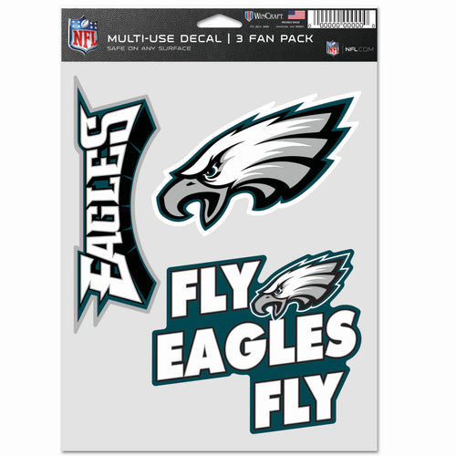 Philadelphia Eagles 3-Piece Fan Multi Use Decal Set