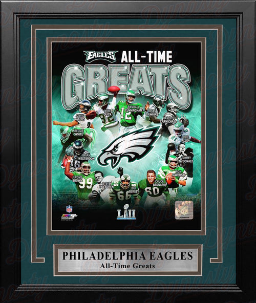 "Philadelphia Eagles All-Time Greats NFL Football 8"" x 10"" Framed & Matted Photo"