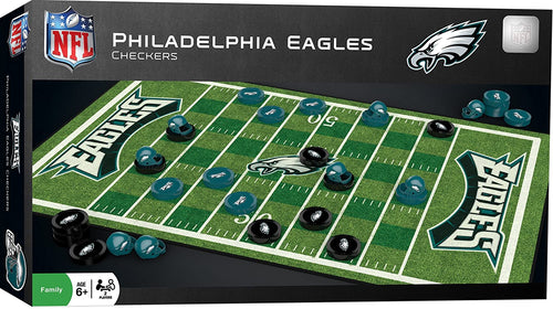 Philadelphia Eagles Checkers Board Game - Dynasty Sports & Framing