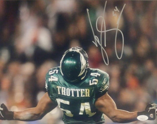 "Jeremiah Trotter Flex Philadelphia Eagles Autographed 11"" x 14"" Football Photo - Dynasty Sports & Framing"
