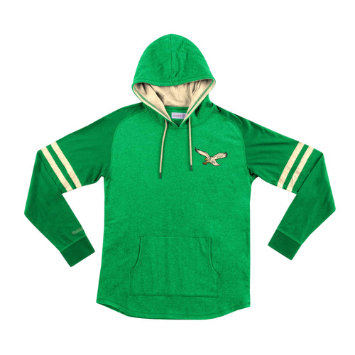 Philadelphia Eagles Mitchell & Ness Throwback Football Lightweight Hoodie 2.0