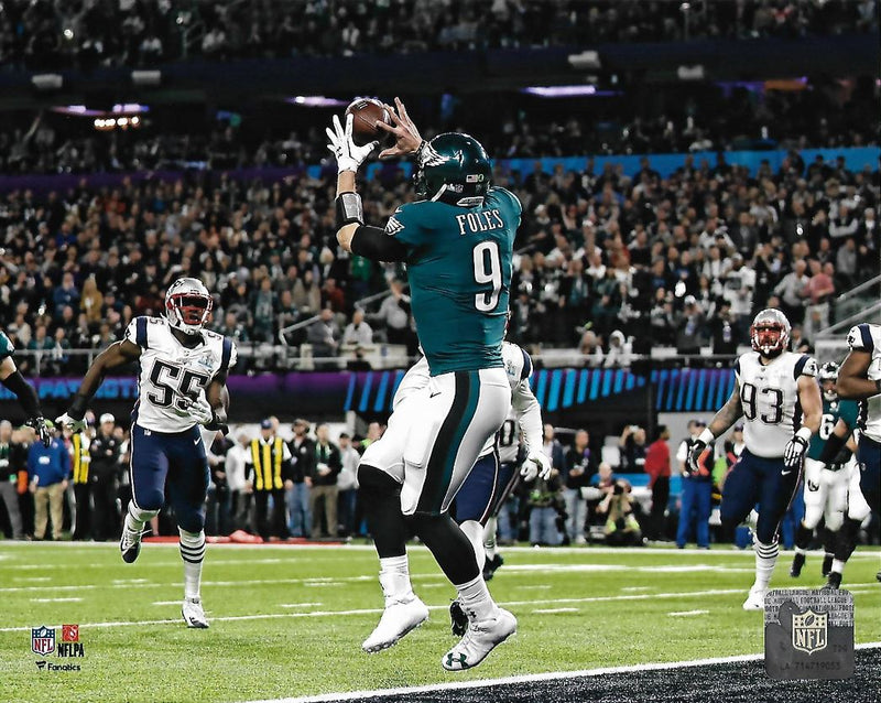Nick Foles Philadelphia Eagles Super Bowl LII Philly Special Touchdown Football Photo - Dynasty Sports & Framing