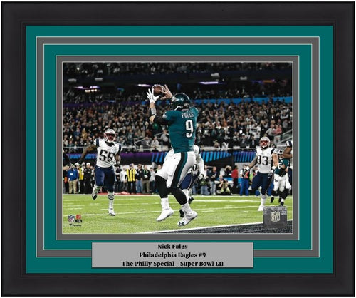 Nick Foles Philadelphia Eagles Super Bowl LII Philly Special Touchdown Framed Football Photo - Dynasty Sports & Framing