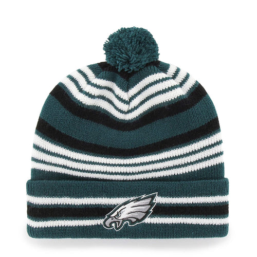Philadelphia Eagles Rickshaw OTS Cuff Knit Cap with Pom - Dynasty Sports & Framing