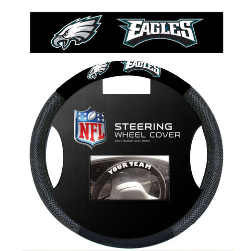 Philadelphia Eagles NFL Football Steering Wheel Cover - Dynasty Sports & Framing