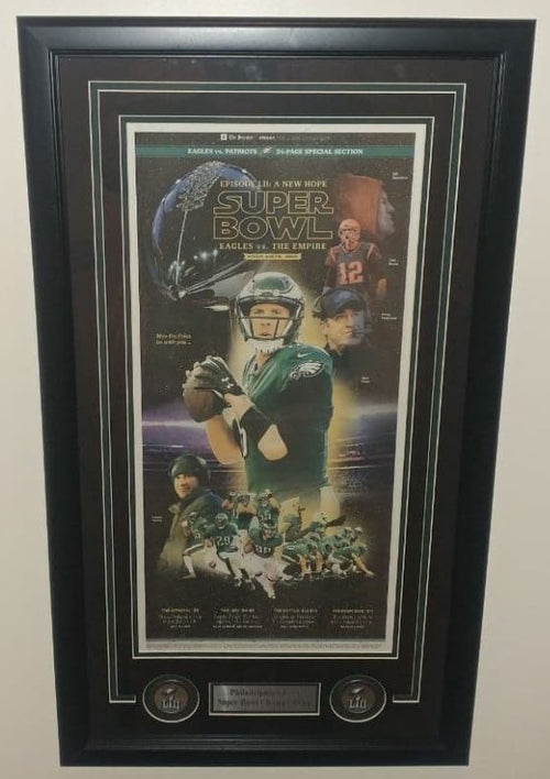 Philadelphia Eagles Super Bowl LII Star Wars Framed Philadelphia Inquirer - Dynasty Sports & Framing
