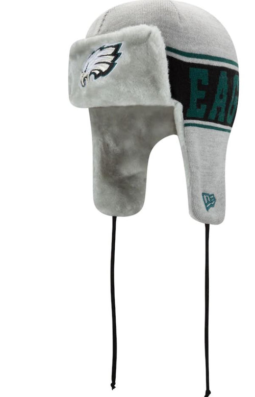 Philadelphia Eagles Stripe Trapper Knit Hat - Dynasty Sports & Framing