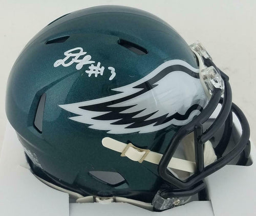 Travis Fulgham Philadelphia Eagles Autographed NFL Football Speed Mini-Helmet - Dynasty Sports & Framing