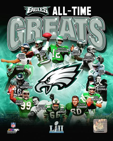 "Philadelphia Eagles All-Time Greats NFL Football 8"" x 10"" Photo"