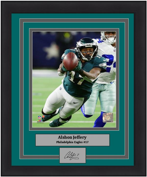 Alshon Jeffery v. Dallas Cowboys Philadelphia Eagles 8x10 Framed Photo with Engraved Autograph - Dynasty Sports & Framing