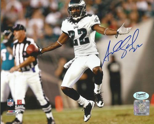 "Asante Samuel Celebration Philadelphia Eagles Autographed 8"" x 10"" Photo"