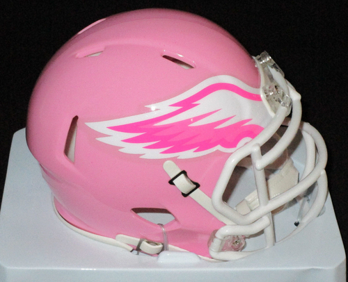 Philadelphia Eagles NFL Riddell Breast Cancer Speed Mini-Helmet