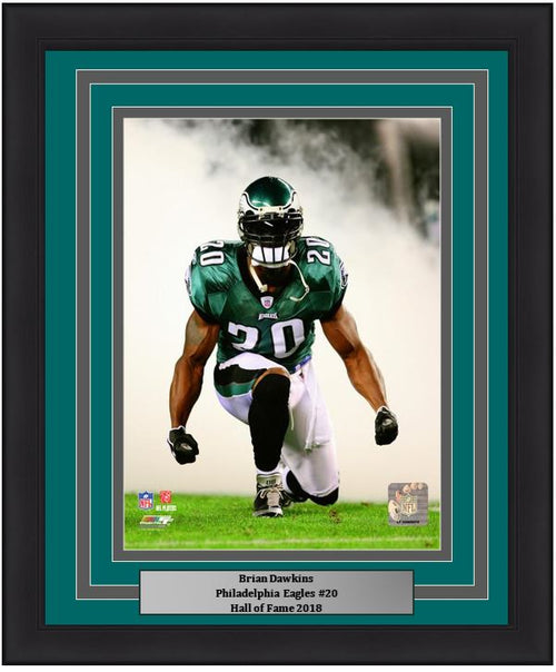 Brian Dawkins Smoke Philadelphia Eagles NFL Football Framed & Matted Photo - Dynasty Sports & Framing