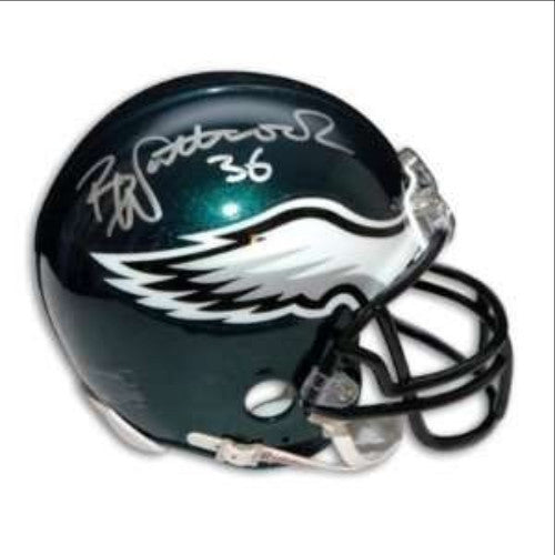 Philadelphia Eagles Brian Westbrook Autographed NFL Football Mini-Helmet - Dynasty Sports & Framing