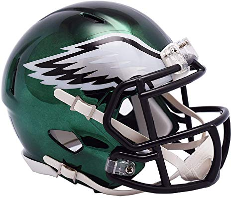 Philadelphia Eagles NFL Riddell Limited Chrome Mini-Helmet