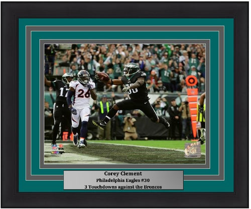 "Corey Clement 3 Touchdown Game Philadelphia Eagles NFL Football 11"" x 14"" Framed and Matted Photo"