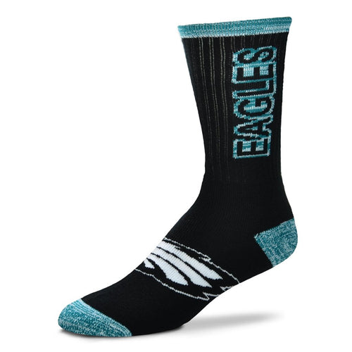Philadelphia Eagles Men's NFL Football Crush Logo Socks - Dynasty Sports & Framing