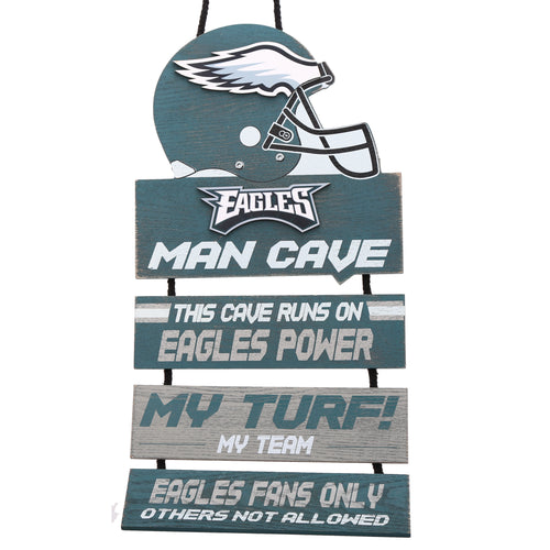 Philadelphia Eagles NFL Football Wooden Man Cave Sign - Dynasty Sports & Framing