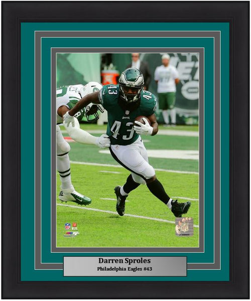 "Darren Sproles v. New York Jets Philadelphia Eagles 11"" x 14"" NFL Football Framed and Matted Photo"