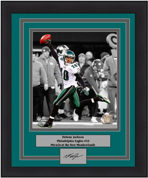 "DeSean Jackson Philadelphia Eagles Punt Return NFL Football 8"" x 10"" Framed and Matted Photo with Engraved Autograph"