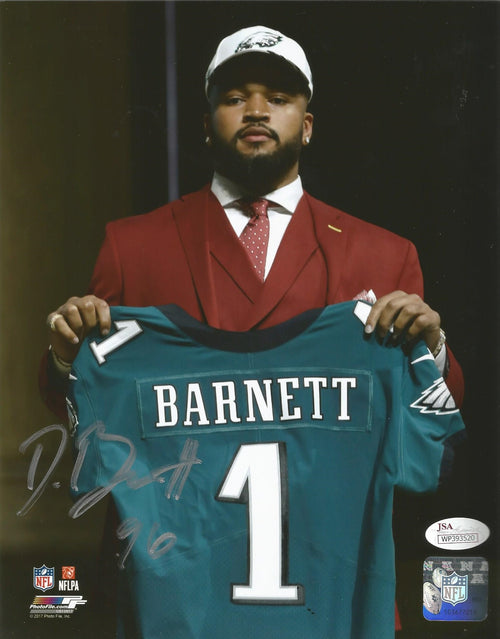 Philadelphia Eagles Derek Barnett Draft Day Autographed NFL Football Photo