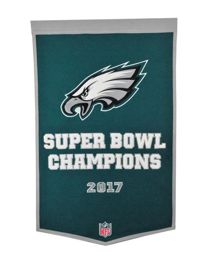 Philadelphia Eagles NFL Super Bowl Wool Dynasty Banner