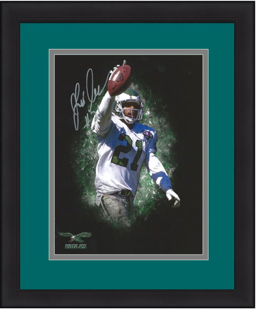 "Eric Allen Blackout Philadelphia Eagles Autographed 11"" x 14"" NFL Football Framed and Matted Photo"