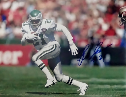 Eric Allen Philadelphia Eagles Autographed Photo (Run) - Dynasty Sports & Framing