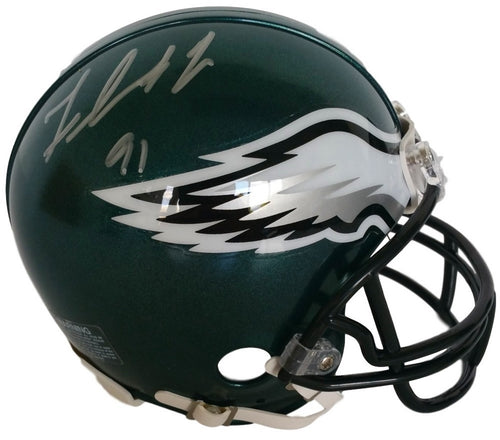Philadelphia Eagles Fletcher Cox Autographed NFL Football Mini-Helmet - Dynasty Sports & Framing