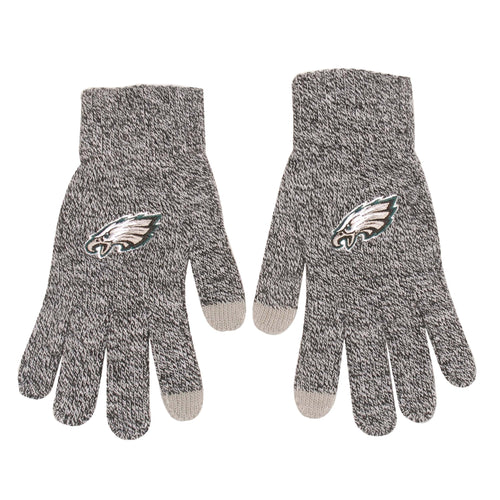 Philadelphia Eagles Gray Knit Texting Gloves - Dynasty Sports & Framing