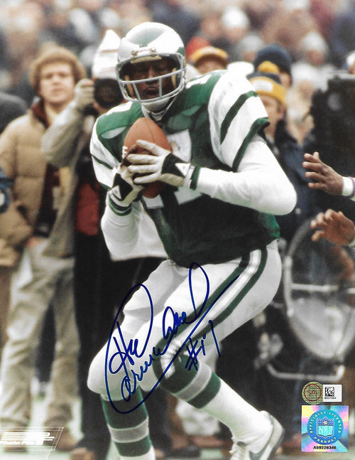 "Harold Carmichael Making a Catch Philadelphia Eagles Autographed NFL Football 8"" x 10"" Photo"