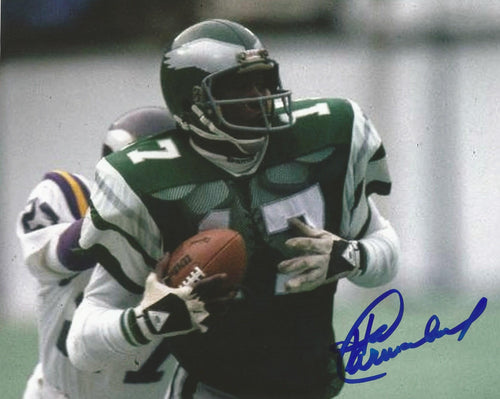 "Harold Carmichael Catch and Run Philadelphia Eagles Autographed NFL Football 8"" x 10"" Photo"