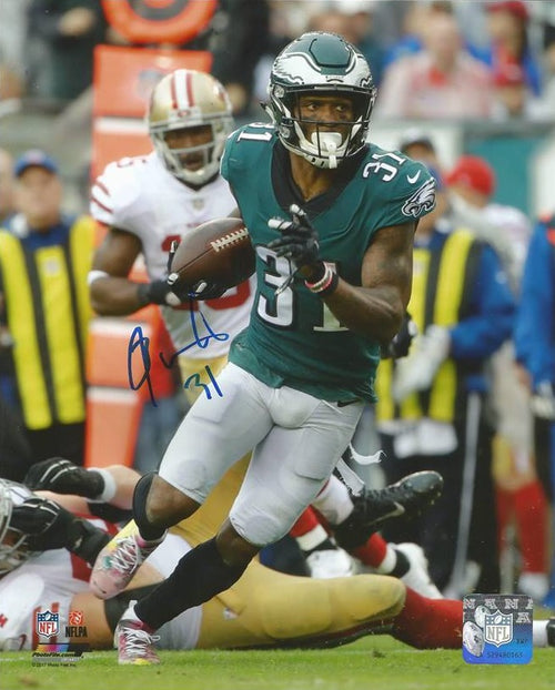 "Jalen Mills Interception Return Philadelphia Eagles Autographed 16"" x 20"" NFL Football Photo"