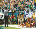 Jordan Matthews Philadelphia Eagles Autographed Celebration Photo - Dynasty Sports & Framing