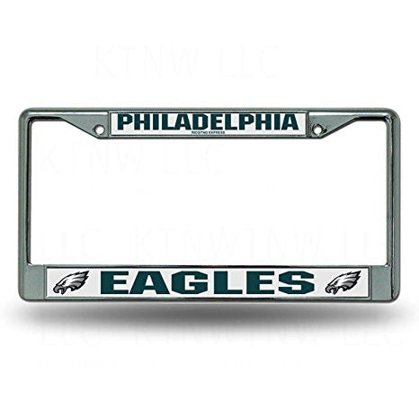 Philadelphia Eagles NFL Football Chrome License Plate Frame - Dynasty Sports & Framing