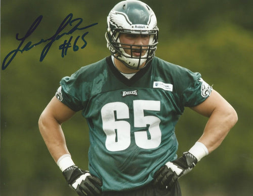 "Lane Johnson in Action Philadelphia Eagles Autographed 8"" x 10"" Photo"