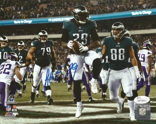 Philadelphia Eagles LeGarrette Blount Autographed 2017 NFC Championship Game NFL Football Photo