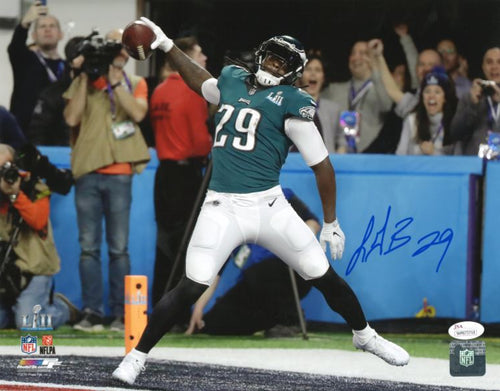 Philadelphia Eagles Super Bowl LII LeGarrette Blount Autographed Touchdown Spike NFL Football Photo