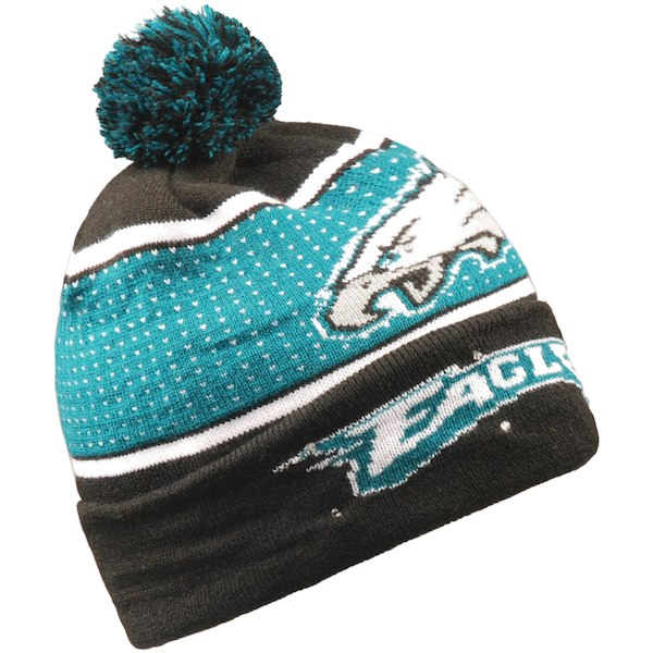7b37211017ba14 Philadelphia Eagles Light Up Knit Beanie Hat | Football Winter Hats ...