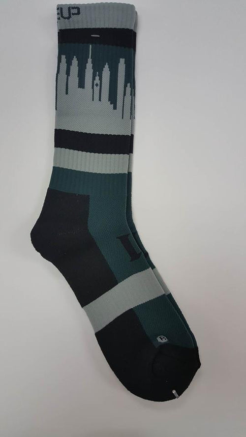 Philadelphia Eagles Lineup Skyline SpeedFit Athletic Socks - Dynasty Sports & Framing