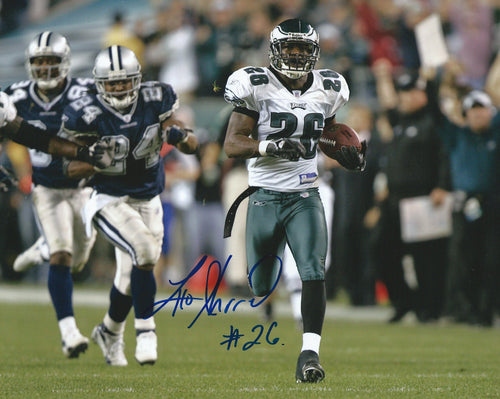 "Lito Sheppard Philadelphia Eagles Autographed 8"" x 10"" Photo (Interception Return v. Cowboys) - Dynasty Sports & Framing"