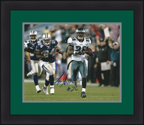 "Lito Sheppard Philadelphia Eagles Autographed 8"" x 10"" Framed and Matted Photo (Interception Return v. Cowboys) - Dynasty Sports & Framing"