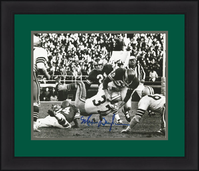"Maxie Baughan Philadelphia Eagles Autographed 8"" x 10"" Framed Photo - Dynasty Sports & Framing"