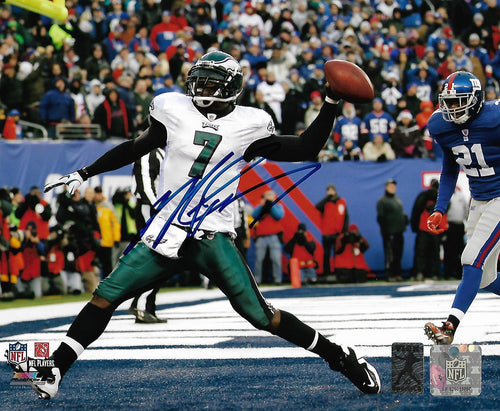 "Philadelphia Eagles Michael Vick Miracle at the New Meadowlands Autographed 8"" x 10"" Photo"