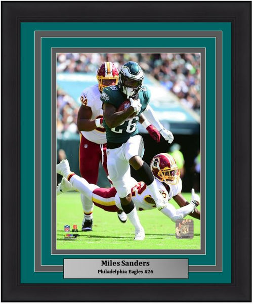 "Miles Sanders First NFL Game Philadelphia Eagles 8"" x 10"" Framed Football Photo - Dynasty Sports & Framing"