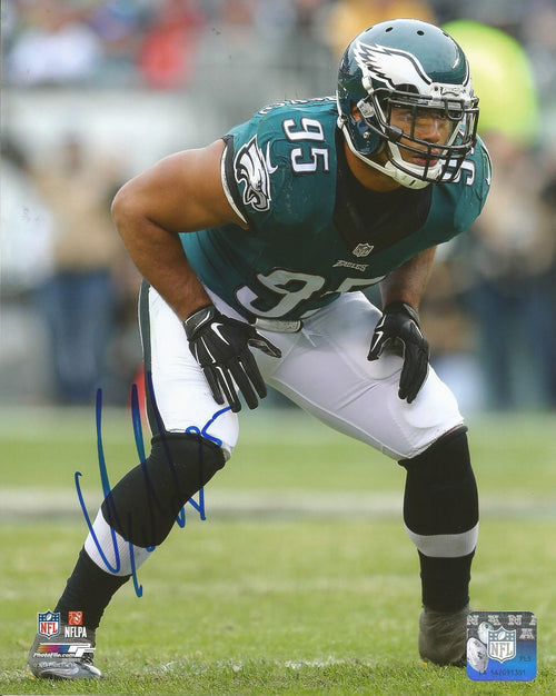 "Mychal Kendricks in Action Philadelphia Eagles Autographed NFL Football 8"" x 10"" Photo"