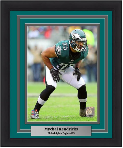 "Mychal Kendricks in Action Philadelphia Eagles NFL Football 8"" x 10"" Framed and Matted Photo - Dynasty Sports & Framing"