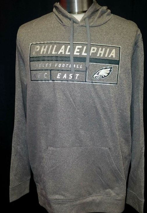 Philadelphia Eagles NFL Football Startling Success Dri-Fit Gray Pullover Hooded Sweatshirt