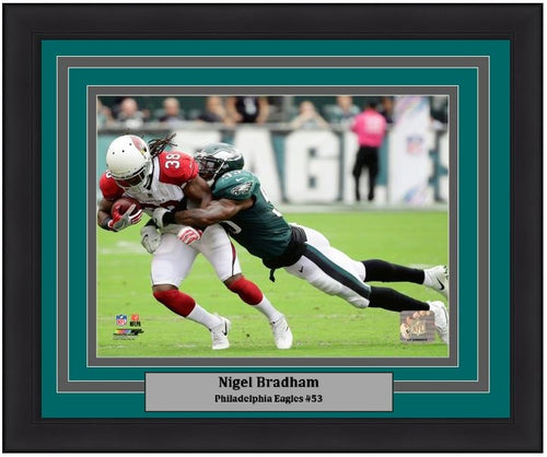Nigel Bradham Making a Tackle Philadelphia Eagles NFL Football Framed and Matted Photo