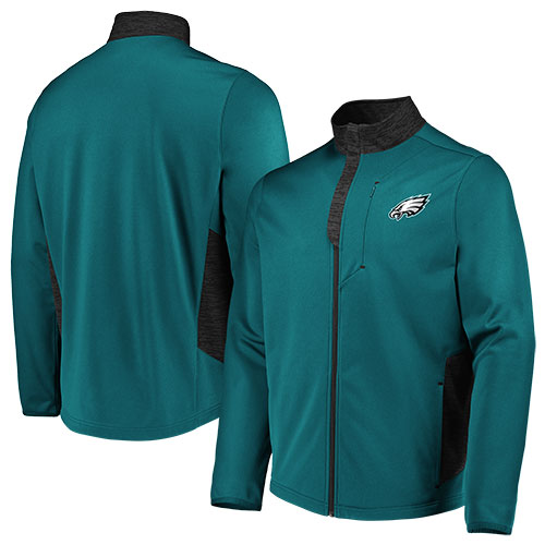 Philadelphia Eagles Mens Majestic 1/4 Zip Up Jacket - Dynasty Sports & Framing